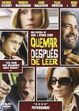 PELICULA DVD QUEMAR DESPUES DE LEER PRECINTADA