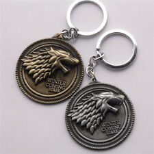 One Game of Thrones House Stark Car Key Chain Keychain Keyring Gold Gold Keyfob