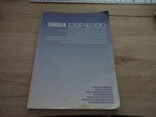 Originale Yamaha Bedienungsanleitung für DSP-E390