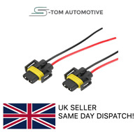 2x H11 H8 Wiring Harness female Socket Wire Connector Plug Extension Pigtail
