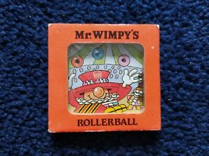 """2"""" SQUARE Mr WIMPY'S ROLLERBALL GAME FROM 1983 - VGC - FREE P&P!!"""