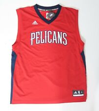f4055234046 NEW ADIDAS NBA NEW ORLEANS PELICANS RED REPLCICA BLANK JERSEY XL EXTRA LARGE