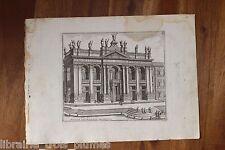✒ GRAVURE 18e ROME Basilique Saint Jean de LATRAN