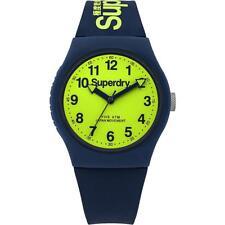 Superdry Urban Blue Silicone Strap Unisex Watch SYG164UN