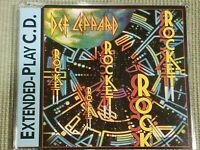 DEF LEPPARD ROCKET RARE 4 TRACK IMPORT REMIX CD FREE SHIPPING