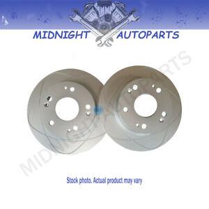 2 FRONT Slotted Disc Brake Rotors for Volvo 850, 960, C70, S70, S90, V70, V90