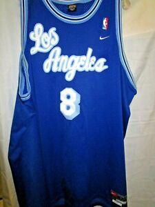 Vintage Nike Kobe Bryant #8 Los Angeles LA Lakers Blue Jersey Size 5XL