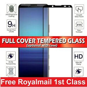 For Sony 1 5 10 II III L3 L4 XA2 XZ3  Tempered Glass Screen Protector/Case Cover