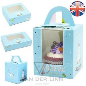 UNICORN Windowed Cupcake Boxes Birthday Party Gift Box 1 4 6