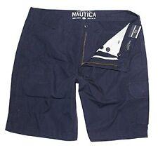Men's Nautica Cruiser Modern Fit Cargo Walk Shorts True Navy Blue Size 40