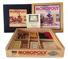 Monopoly Nostalgia Game Trains Money Dice Series in Wooden Collectors Box 2001