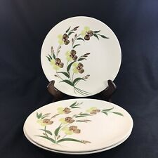3 Dinner Plates, Blue Ridge Southern Potteries. Sunny Spray