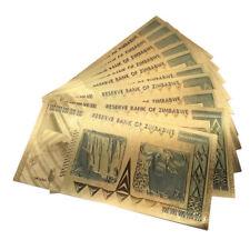 1PC Zimbabwe 100 Trillion Dollars Banknote Gold Bill World Money Collection