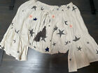 Surf Gypsy Off The Shoulder Crop Top Ivory Stars Size S Patriotic Bell Sleeve
