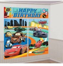 DISNEY CARS BOYS BIRTHDAY PARTY SUPPLIES SCENE SETTER WALL POSTER DECORATIONS