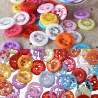 100PCS FLOWER PATTERNED RESIN BUTTONS SIZE 14MM FOR IDEAL BABY KNITS