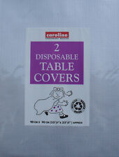 Paper Table Cloth Pack 2 Disposable Party Table Covers Silver 3ft x 3ft Caroline