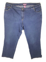 WOMAN WITHIN Size 24W Medium Wash Blue Natural Fit Straight Leg Jeans