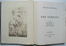 WILLIAM SHAKESPEARE THE TEMPEST GRAVURES DE ANDRE BEAUREPAIRE ALCOOLS 1946 NUM