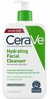 CeraVe Hydrating Face Wash 16 Ounce Facial Cleanser for Dry Skin Fragrance Free