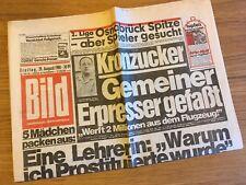 Bildzeitung BILD 29.08.1980  - VFL Osnabrück Tabellenführer 2. Bundesliga