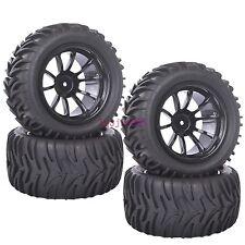 4PCS RC 1/10 Off-Road Bigfoot Monster Truck Tyre Tires Wheel Rim black 88050