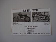 advertising Pubblicità 1975 MOTO GORI 125 REGOLARITA'/REGOL. 50 JC5
