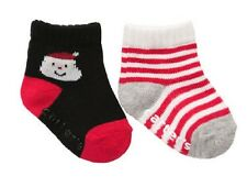 SALE! Size Infant Christmas Holiday Socks Red Candy Stripes & Santa  NWT
