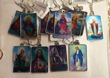 3D Jesus Key Chain Religous Key Chain 12pc Set Wholesale New Assorted