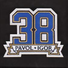 NHL Memorial patch for st. Louis Blues Igor Korolev and Pavol Demitra