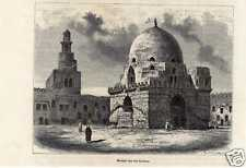 Antique print Ahmad ibn Tulun moskee Egypt mosque 1882