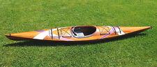 Cedar Wood Strip Kayak 14.75' w/ Stripes Canoe Boat Woodenboat USA New