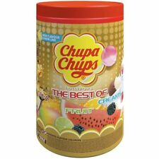 Best of CHUPA CHUPS Lollipops Assorted Flavour Bulk Lollies Pops Jar Can
