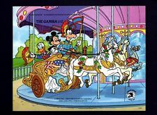 GAMBIA - 1989 - DISNEY - MICKEY - DONALD - CAROUSEL CHARIOT - HORSE + MINT S/S!
