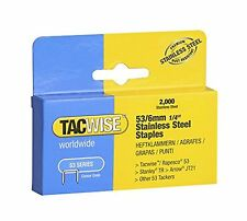 Tacwise 1268 53 x 6 mm Stainless Steel Staples 2000-Piece