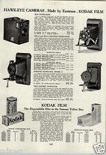 1933 PAPER AD 4 PG Eastman Kodak Hawk Eye Camera Folding Vest Pocket Brownie