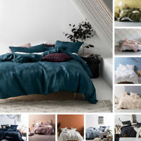 BRAND NEW Linen House Nimes 100% Linen Quilt Duvet Doona Sets | 12 Colours