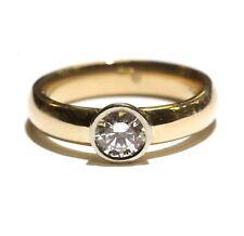 set solitaire engagement ring 4.8g 6.5 14k yellow gold .51ct round diamond bezel