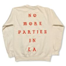 Official Kanye West Merch No More Parties in LA Sweatshirt White Sz Small Travis