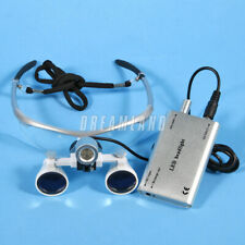 Dental Magnifier Binocular Loupes With Led Head Light Lamp Surgical Glasses Ca