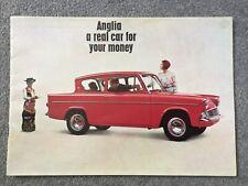 FORD ANGLIA Car Sales Brochure Rare 39482/652