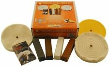 6-Inch Buffing and Polishing Kit in a Box - 4 Polishing Compounds by Enkay