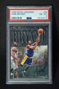 1998-99 Metal Universe Kobe Bryant #53 PSA 6 EX-MT
