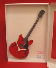 Electric Guitar Wall Clock Wooden Music Gift ' Gibson 335 ' Design Rock Musician