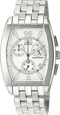 CITIZEN AT0000-55A MEN'S Watch Eco-Drive White Dial Stainless Steel Chrono 5yrWt