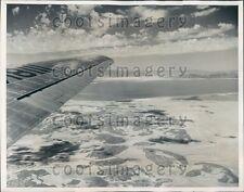 1940 Aerial Salt Lake Utah Press Photo