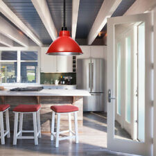 RED Industrial Warehouse Light Pendant Ceiling Lampshade Hanging Light Holder