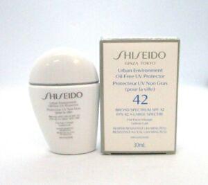 Shiseido Ginza Tokyo Urban Environment Oil Free UV Protector Spf 42 ~ 30 ml BNIB