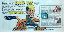Bauer Supremes Skates Hockey ad with Bobby Orr - 1969 color Sunday comic ad page