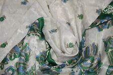 Vintage Flower Box Saree Crepe Silk Soft Craft Making Arts Dress Sari Fabric